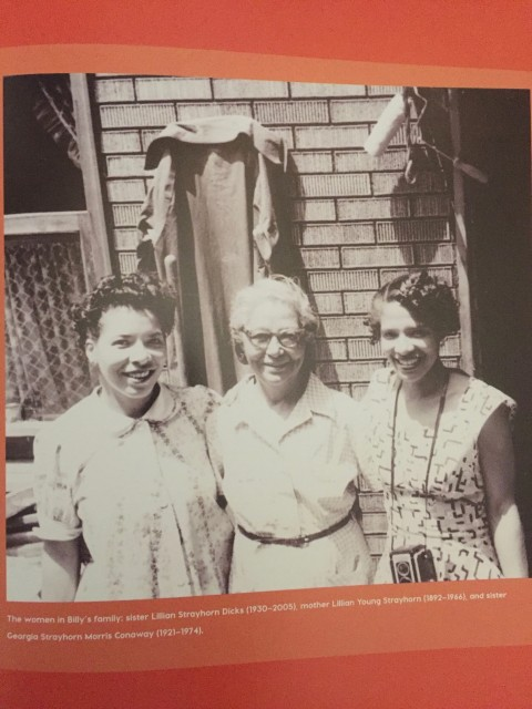 From left, sister Lillian Strayhorn Dicks, mother Lillian Strayhorn, and sister Georgia Strayhorn Morris Conaway.